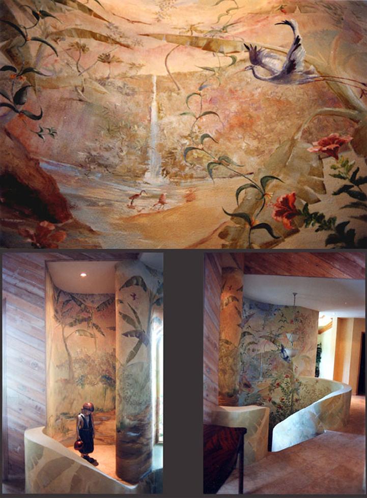 Sarasota fine art gallery and mural of joseph barron for Mural joe painting